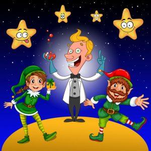 L'affiche de la pièce Le Noël des étoiles de Luc Boulanger