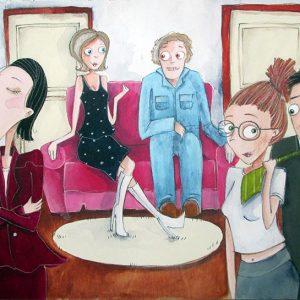 Trois filles et un sofa