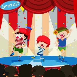 Saynète de clowns gratuite pour enfants